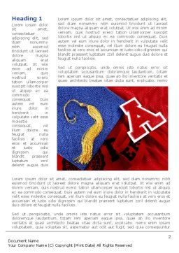 Mortarboard Word Template, First Inner Page, 08771, Education & Training — PoweredTemplate.com