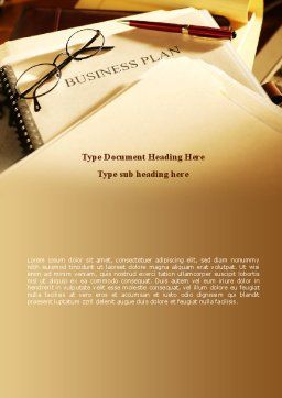 Business Plan Analytic Word Template, Cover Page, 08773, Business Concepts — PoweredTemplate.com