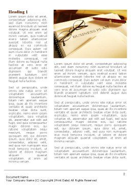 Business Plan Analytic Word Template, First Inner Page, 08773, Business Concepts — PoweredTemplate.com
