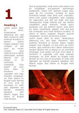 Blood Vessels Word Template, First Inner Page, 08778, Medical — PoweredTemplate.com