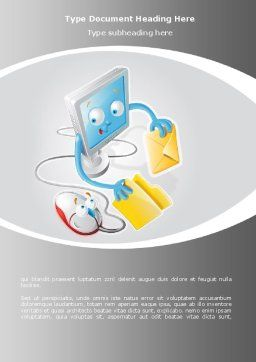 Via E-mail Word Template, Cover Page, 08779, Telecommunication — PoweredTemplate.com