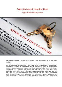 Notice Of Foreclosure Word Template, Cover Page, 08782, Financial/Accounting — PoweredTemplate.com