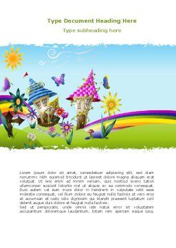 Summer Country Word Template, Cover Page, 08783, Education & Training — PoweredTemplate.com