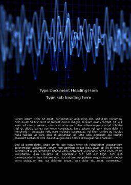 Oscillography Word Template, Cover Page, 08787, Technology, Science & Computers — PoweredTemplate.com
