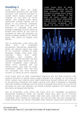 Oscillography Word Template, First Inner Page, 08787, Technology, Science & Computers — PoweredTemplate.com