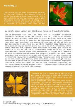 October's Leaves Word Template First Inner Page