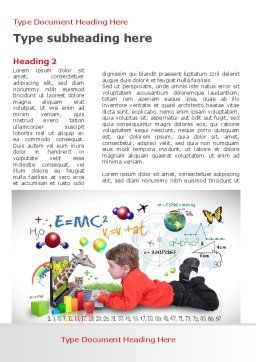 Natural Sciences Education Word Template First Inner Page