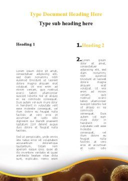 Cell Meiosis Word Template, Second Inner Page, 08793, Medical — PoweredTemplate.com