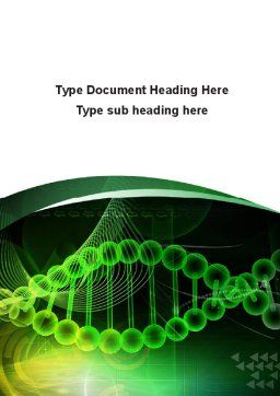 Deoxyribonucleic Acid Word Template, Cover Page, 08795, Medical — PoweredTemplate.com