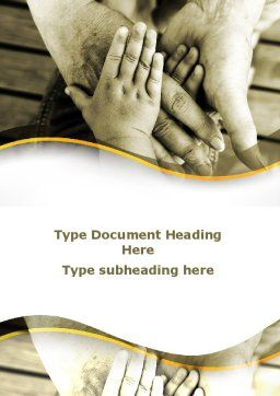 Family Ties Word Template, Cover Page, 08796, Religious/Spiritual — PoweredTemplate.com