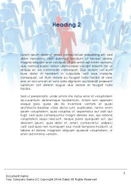 Leader In Crowd Word Template Second Inner Page