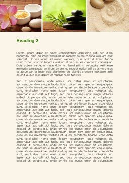 Spa Salon Relaxation Word Template, Second Inner Page, 08798, Careers/Industry — PoweredTemplate.com