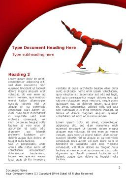 Insurance Business Word Template, First Inner Page, 08799, Careers/Industry — PoweredTemplate.com