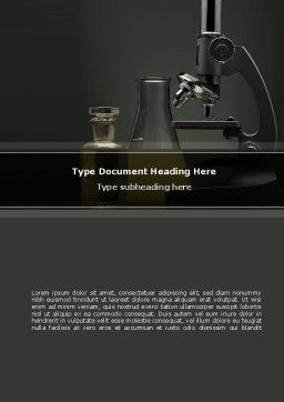 Microscope Researches Word Template, Cover Page, 08800, Technology, Science & Computers — PoweredTemplate.com