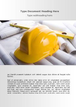 Architectural Control Word Template, Cover Page, 08801, Careers/Industry — PoweredTemplate.com