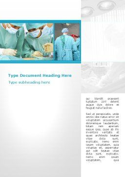 Vascular Surgery Word Template, Cover Page, 08802, Medical — PoweredTemplate.com