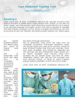 Vascular Surgery Word Template, First Inner Page, 08802, Medical — PoweredTemplate.com