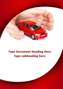 Private Car Insurance Word Template Cover Page