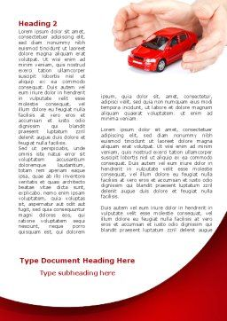 Private Car Insurance Word Template First Inner Page