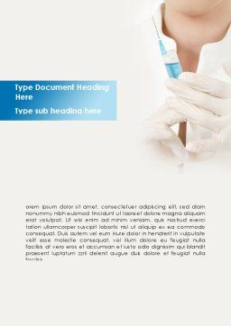 Nurse With Squirt Word Template, Cover Page, 08808, Medical — PoweredTemplate.com