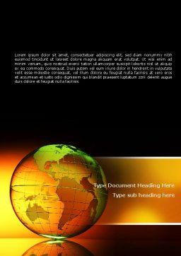 Crystalline World Word Template, Cover Page, 08809, Global — PoweredTemplate.com