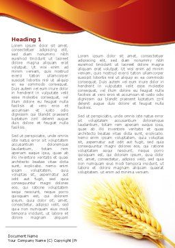Wheat Harvest Word Template, First Inner Page, 08814, Agriculture and Animals — PoweredTemplate.com