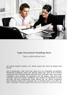 Business Consulting Meeting Word Template, Cover Page, 08815, Business — PoweredTemplate.com