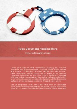 US Criminal Law Word Template, Cover Page, 08816, Legal — PoweredTemplate.com