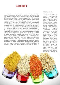 Spices Word Template, First Inner Page, 08817, Food & Beverage — PoweredTemplate.com