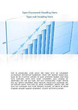 Blue Diagram Word Template, Cover Page, 08818, Business Concepts — PoweredTemplate.com