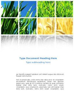 Wheats Word Template, Cover Page, 08821, Agriculture and Animals — PoweredTemplate.com