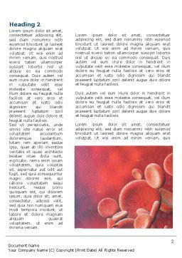 Circulatory System Word Template, First Inner Page, 08822, Medical — PoweredTemplate.com
