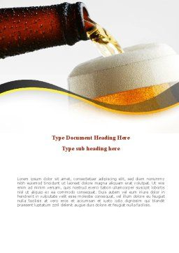 Beer Bottle Word Template, Cover Page, 08825, Food & Beverage — PoweredTemplate.com