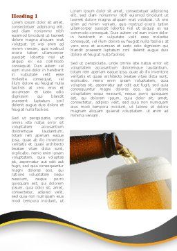 Beer Bottle Word Template, First Inner Page, 08825, Food & Beverage — PoweredTemplate.com