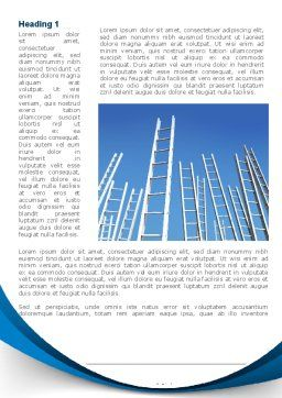 Ladder Up Word Template, First Inner Page, 08826, Careers/Industry — PoweredTemplate.com