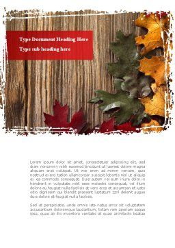 Leaf Litter Word Template, Cover Page, 08827, Nature & Environment — PoweredTemplate.com