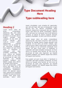 Puzzle Parts Folding Word Template, First Inner Page, 08829, Business Concepts — PoweredTemplate.com