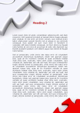 Puzzle Parts Folding Word Template, Second Inner Page, 08829, Business Concepts — PoweredTemplate.com