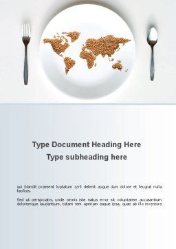 World Wide Food Market Word Template, Cover Page, 08834, Food & Beverage — PoweredTemplate.com