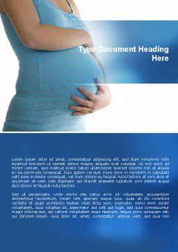 Pregnant Woman Word Template, Cover Page, 08837, Medical — PoweredTemplate.com