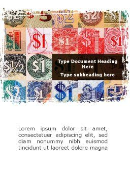 Dollar Banknotes Word Template, Cover Page, 08838, Financial/Accounting — PoweredTemplate.com