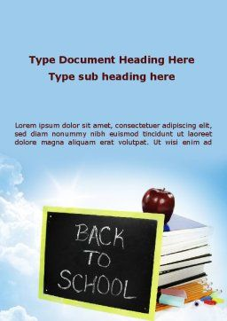 Back To School Activities and Crafts Word Template, Cover Page, 08840, Education & Training — PoweredTemplate.com