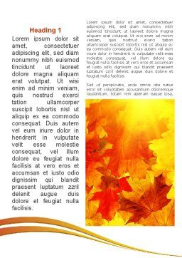 Red Leaves in Fall Word Template First Inner Page
