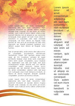 Red Leaves in Fall Word Template Second Inner Page