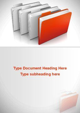 Folders Word Template, Cover Page, 08842, Careers/Industry — PoweredTemplate.com