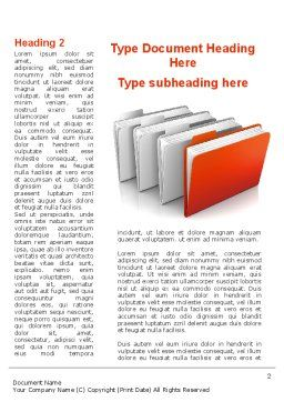 Folders Word Template, First Inner Page, 08842, Careers/Industry — PoweredTemplate.com