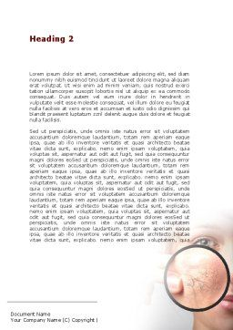 Face Care Word Template, Second Inner Page, 08843, Medical — PoweredTemplate.com