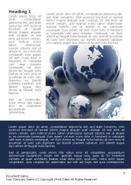 Earth Globe Word Template, First Inner Page, 08845, Global — PoweredTemplate.com
