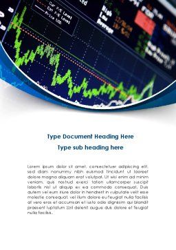 Stock Market Rates Word Template, Cover Page, 08846, Financial/Accounting — PoweredTemplate.com