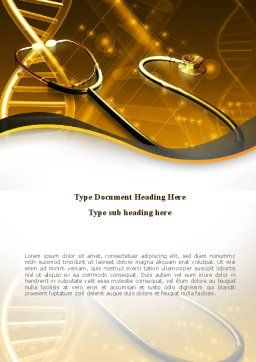 Treatment Of Hereditary Diseases Word Template, Cover Page, 08848, Medical — PoweredTemplate.com
